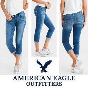 american eagle artist crop super stretch jeans 00